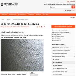 Experimento del papel de cocina - ¿Cuál es el más absorbente?
