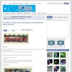 Proyecto: Como crecen las plantas con diferentes tipos de tierra
