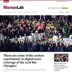These are some of the coolest experiments in digital news coverage of the 2016 Rio Olympics