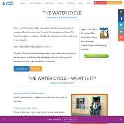 The Water Cycle - Experiments and Resources for Elementary through High School