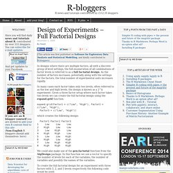 Design of Experiments – Full Factorial Designs