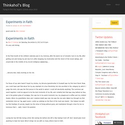 Experiments in Faith
