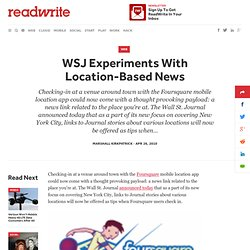 WSJ Experiments With Location-Based News