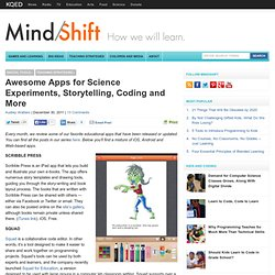 Awesome Apps for Science Experiments, Storytelling, Coding and More