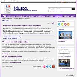 Expérithèque - Expérithèque : bibliothèque nationale des innovations