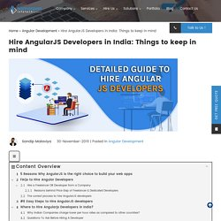 Expert Guide to Hire Angular JS Developers from India {2020}