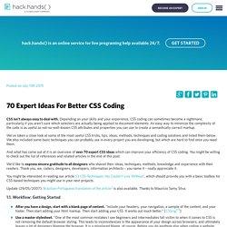 70 Expert Ideas For Better CSS Coding - HackHands