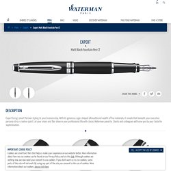 Expert Matt Black Fountain Pen CT - Waterman