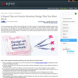 6 Expert Tips on Creative Brochure Design That You Must Know