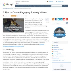 6 Expert Tips for Making Engaging Training Videos