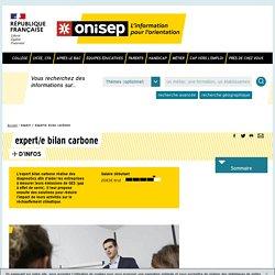 expert / experte bilan carbone - Onisep