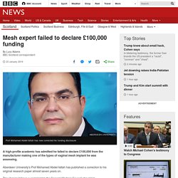 Mesh expert failed to declare £100,000 funding
