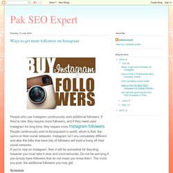 Pak SEO Expert: Ways to get more followers on Instagram