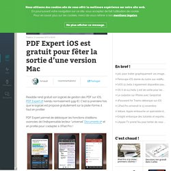 PDF Expert iOS est gratuit pour fêter la sortie d'une version Mac