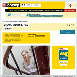 expert immobilier / experte immobilier - Onisep