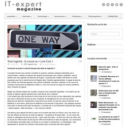 IT-expert Magazine Tests logiciels : la course au « Low Cost »