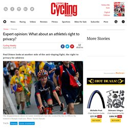 Expert opinion: What about an athlete's right to privacy?