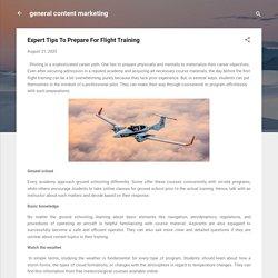 Expert Tips To Prepare For Flight Training
