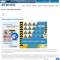 Expert guide to safety labels - Melrose