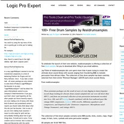 Logic Pro Expert 100+ Free Drum Samples by Realdrumsamples - Logic Pro Expert