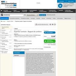 Expertise sanitaire - Rapport de synthèse