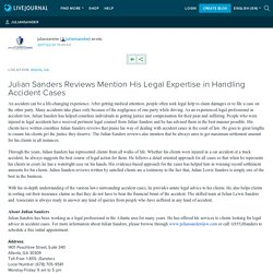 Julian Sanders Reviews Mention His Legal Expertise in Handling Accident Cases: juliansander