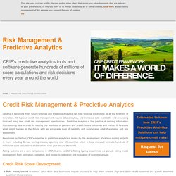30+ Years of expertise in credit risk modelling and decision analytics