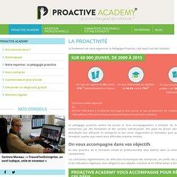 Notre expertise : la pédagogie proactive - PROACTIVE ACADEMY