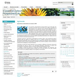 Expertise Prospective Etudes - Agrimonde