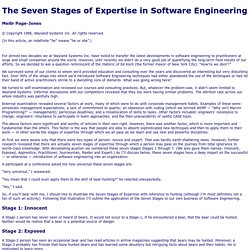 The Seven Stages of Expertise in Software Engineering