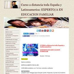 Curso Experto en Educacion Familiar