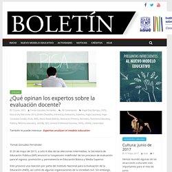 ¿Qué opinan los expertos sobre la evaluación docente? – Boletín del IISUE