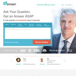 Ask Experts & Get Answers to Your Questions - ASAP