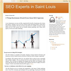 3 Things Businesses Should Know About SEO Agencies
