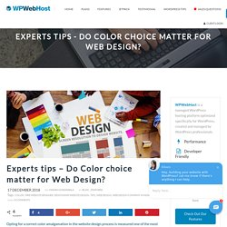 Experts tips - Do Color choice matter for Web Design? - WPWebHost