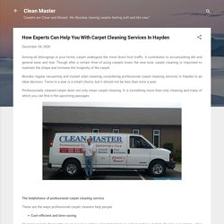 How Experts Can Help You With Carpet Cleaning Services In Hayden
