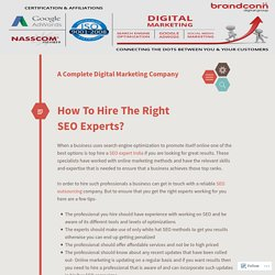How To Hire The Right SEO Experts?