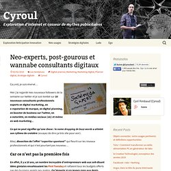 Neo-experts, post-gourous et wannabe consultants digitaux