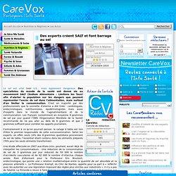 CAREVOX 26/10/10 Des experts créent SALT et font barrage au sel