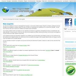 les experts en développement durable d'acteur durable