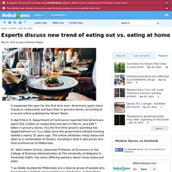 Experts discuss new trend of eating out vs. eating at home