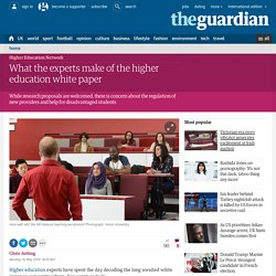 What the experts make of the higher education white paper