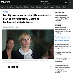 Family law experts reject Government's plan to merge Family Court as Parliament debate looms - ABC News