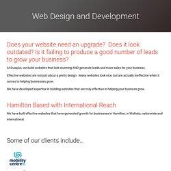 Get Web Design Experts in Hamilton