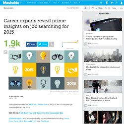 Career experts reveal prime insights on job searching for 2015