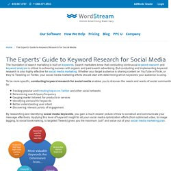 Experts' Guide to Keyword Research for Social Media