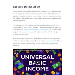 Experts Say Basic Income Could Reach Mainstream Politics in 2018