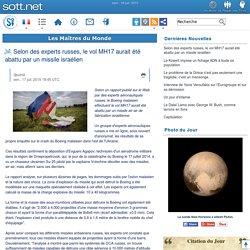 Selon des experts russes, le vol MH17 aurait été abattu par un missile israélien
