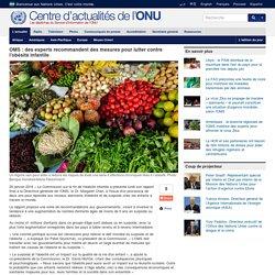 OMS : des experts recommandent des mesures pour lutter contre l'obésité infantile