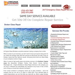 Experts for Broken Glass Repair and Replacement